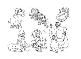 Tanti Personaggi Di Mowgli E Il Libro Della Giungla Da Colorare