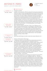 Ceo Resume Examples Adorable President And Ceo Resume Samples VisualCV Resume Samples Database