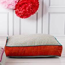Orange And Blue Floor Cushion