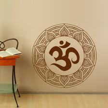 mandalas om symbol wall stickers indian style vinyl art wall decal home stickers removable modern design on mandala wall art nz with mandala wall decals nz buy new mandala wall decals online from