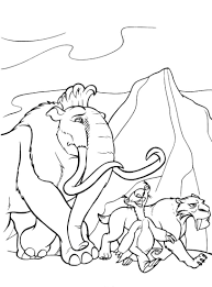 Small Picture Coloring Pages Ice Age Mammoth Coloring Pages Coloring Home Ice