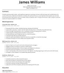 Resume Example For Cashier