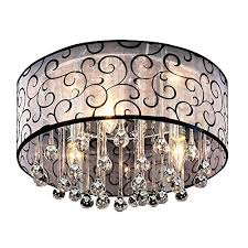 dinggu 4 lights flush mounted modern drum ceiling light chandelier lamp fixtures rain drop decoration