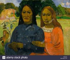 two women by paul gauguin 1901 02 french post impressionist painting oil on canvas gauguin painted the two tahitian women from a photograph