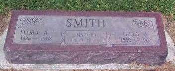 CALDWELL SMITH, FLORA AUGUSTA - Chase County, Nebraska | FLORA AUGUSTA  CALDWELL SMITH - Nebraska Gravestone Photos