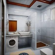 washing machine in small bathroom