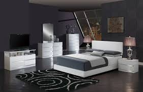 Aurora Youth Bedroom Set w/ White Upholstered Bed