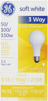 2 pack ge softwhite light bulb 3 way 50 100 150 watt 3 ea walmart