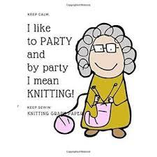 Grandma Knitting Party Knitting Graph Paper 4 5 Ratio Funny Cute
