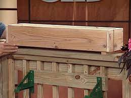 how to build a wooden planter box how