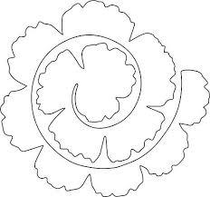 Pattern For Paper Flower Rolled Flower The Craft Crop Felt Flower Template