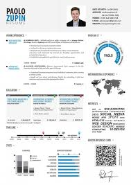 Infographic Resume Template Word Free Download Paolo Zupin