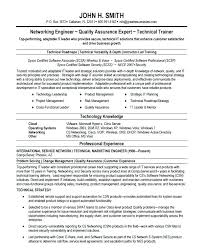 Networking Resume Objective Resume Sample Collection