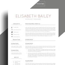 Etsy Resume Template Enchanting Modern Free Resume Template Etsy Resume Template Cv Template