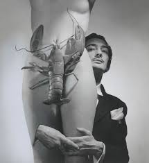 lobster covering woman dali in the back