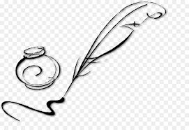 quill drawing inkwell pen clip art banquet
