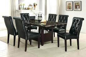 faux marble top dining table 7 ii collection espresso finish wood faux marble top dining table set with tufted chairs hilale monaco round faux marble top