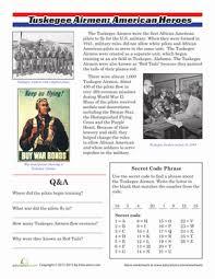 tuskegee airmen black history month black history and worksheets black history month worksheets black history month veterans day fourth grade history comprehension