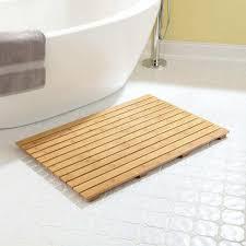 image of teak bath mat design