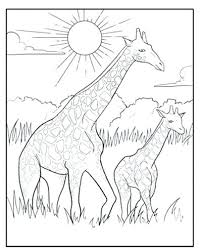 Giraffe Coloring Pictures Baby Page Trentduffy