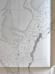 Oregon 1862 Coos Bay Rare Nautical Chart U S Coast Survey