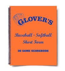 Glovers Baseball Scorebook 30 Games