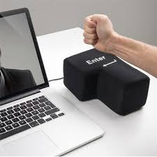 office nap pillow. Desktop Foam Funny USB Big Enter Key Button Office Nap Pillows Travel Soft Toy Pillow Stress N