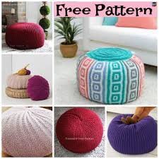 Knitted Pouf Pattern Simple Ideas