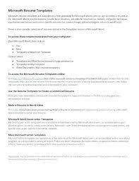Resume Template On Microsoft Word 2007 Templates For Resumes Word Free Resume Template Word Resume