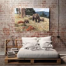 X029 Natürliche Landschaft Wald Tiere Tragen Hd Leinwand Druck Dekoration Wohnzimmer Schlafzimmer Wandbilder Malerei