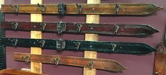 How To Hang A Coat Rack On A Wall Inspiration Ski Coat Hooks Vintage Wall Hanging Ski Coat Rack VintageWinter