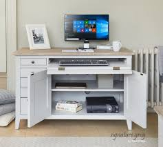 grey home office. Buy Baumhaus Signature Grey Painted Home Office Desk Online CFS UK
