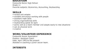 Resume Template Rare Highschool High School Cv Word Free For College ...