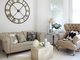 polished country living room with tufted seating
