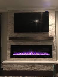 fireplace tv wall