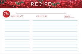 Christmas Recipe Card Twelve Days Of Christmas Recipe Card Debbie Macomber