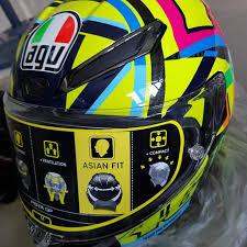 Agv Corsa R Size Chart Agv Pista Gp R Valentino Rossi Asian Fit M Size Helmet