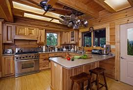 Log Cabin Kitchen Decor Log Cabin Interior Design Bathroom With Drop In Tub Surripuinet