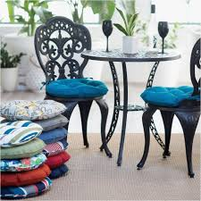 Comely Round Patio Cushions Beautiful Perfect Bistro Chair With