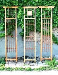 metal trellis panels wall ideas full image for free standing garden designs vegetable australia metal trellis
