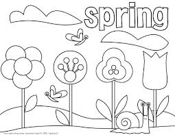 Spring Flower Coloring Pages