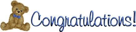 Image result for blue congratulations