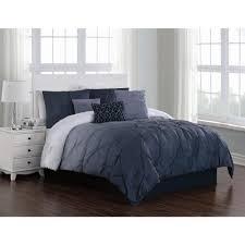 bergen ombre 7 piece blue queen comforter set
