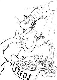 Small Picture Dr Seuss the Cat in the Hat Watering the Plant Coloring Page