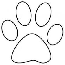 bulldog paw print outline. Contemporary Print Dog Paw Print Outline Sketch Coloring Page Inside Bulldog W