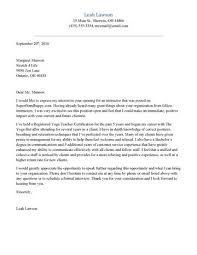 Cover Letter For Yoga Teacher Resume Paulkmaloney Com