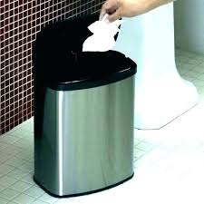 tall trash can. Tall Metal Decorative Trash Can Outdoor Mini Garbage Bathroom With Lid E