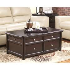 coffee table ashley signature design by wooden lift top cocktail table in brown ottoman coffee table ashley furniture