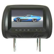 1 chiếc màn hình tựa đầu ô tô 7 inch 12v thông dụng 1024 * ghế sau màn hình  cảm ứng 600 gối đa phương tiện giải trí, máy nghe nhạc mp3/mp4/loa/tai