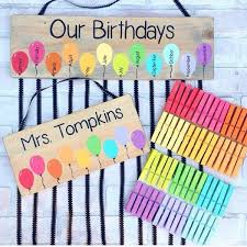 Birthday Chart For Teachers Popsicle Birthday Chart And Name Sign Set Class Birthdays